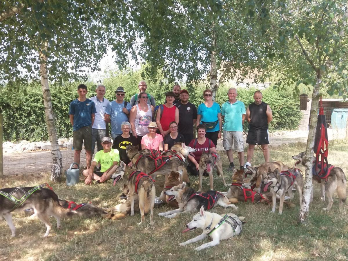 Photo de groupe CE après une Cani-rando<br>